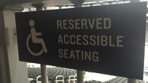 Accessible seating can be found throughout Rogers Place.