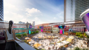 Rendering of the ICE District Public Plaza.