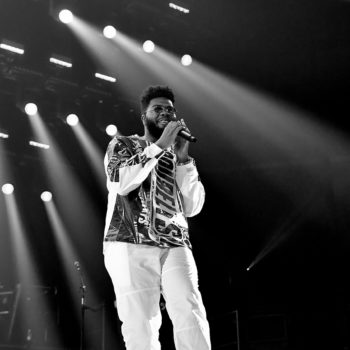 Khalid performing at Rogers Place