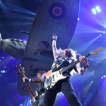 Iron Maiden performing at Rogers Place